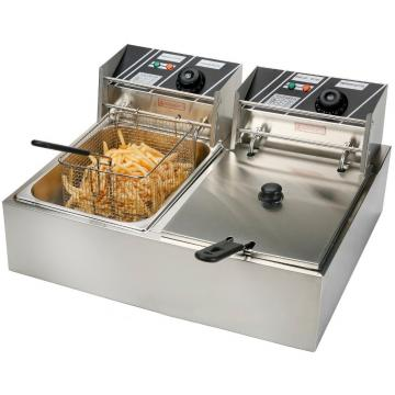 Commercial Stainless Steel 1-Tank 1-Basket Electric Deep Fryer